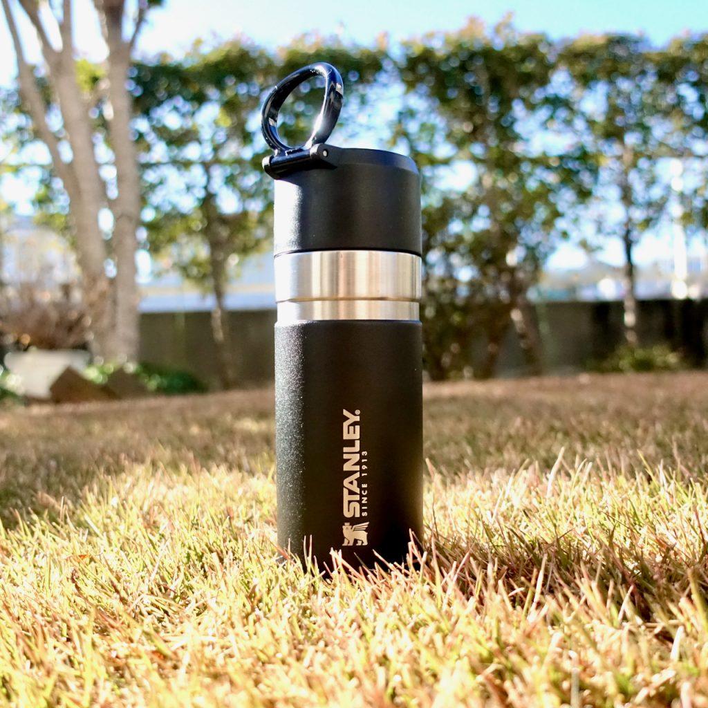 スタンレーブランドのマイボトル。ゴーシリーズ0.37Lの黒。