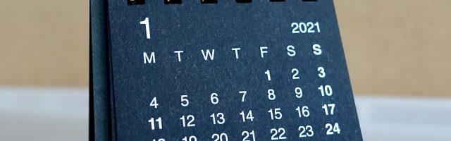 バガスペーパーでできたカレンダー