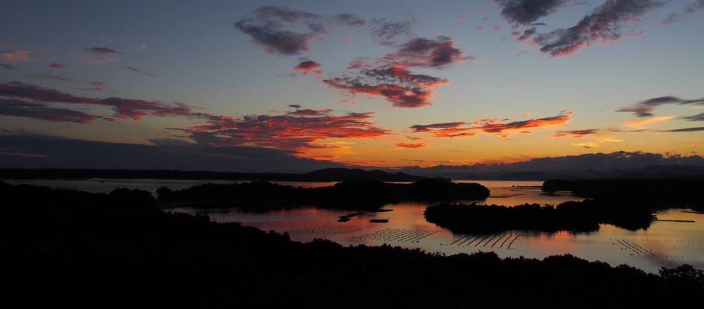 伊勢志摩の英虞湾。リアス式海岸として有名